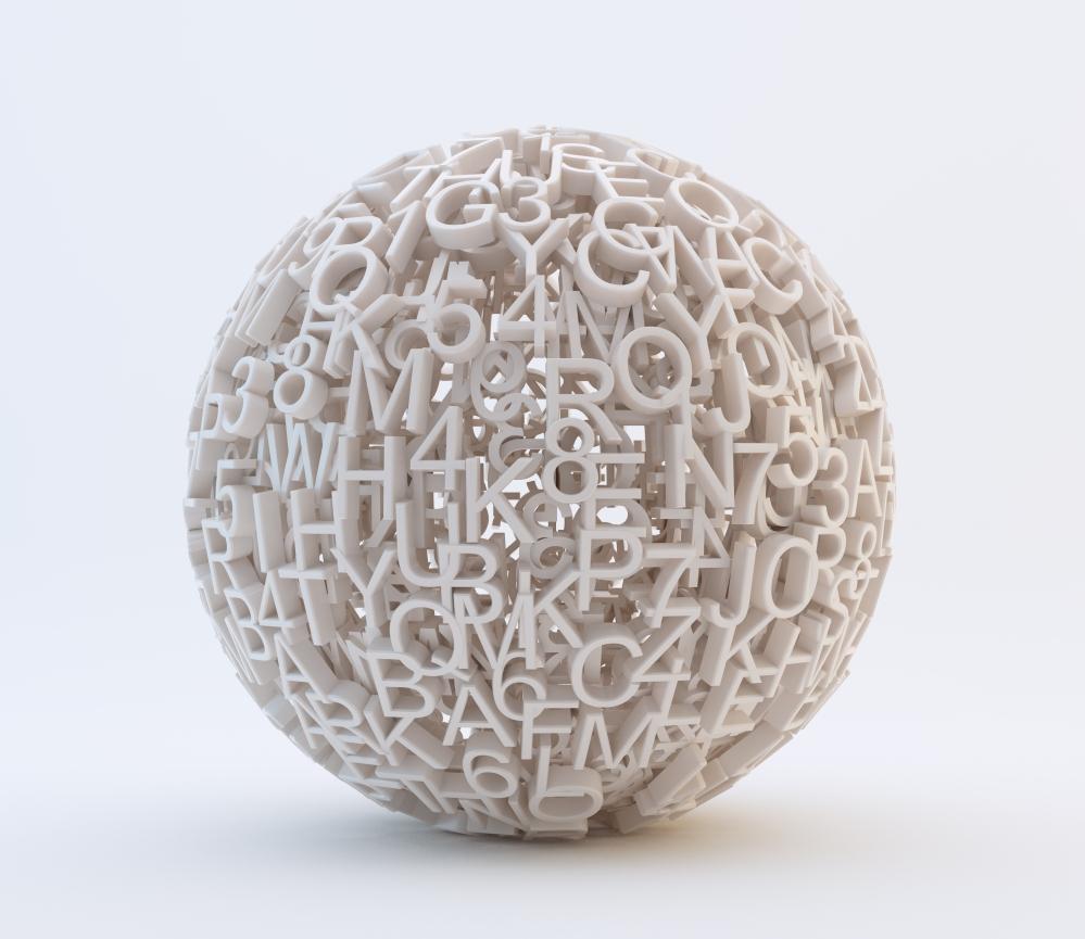 3D letter ball