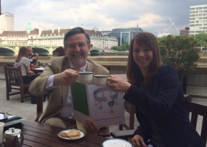 Chemical engineer, Sarah Button, with Barry Gardiner MP.
