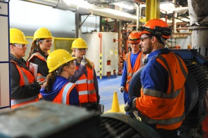 Chemical Engineering Graduates tour British Sugar plant