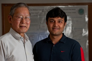 Rice University's George Hirasaki left, and Sayantan Chatterjee