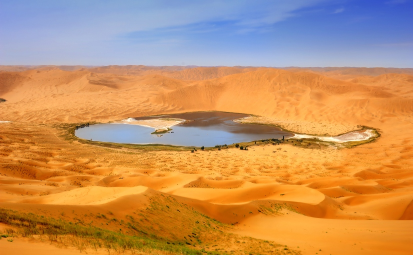 Lake in desert