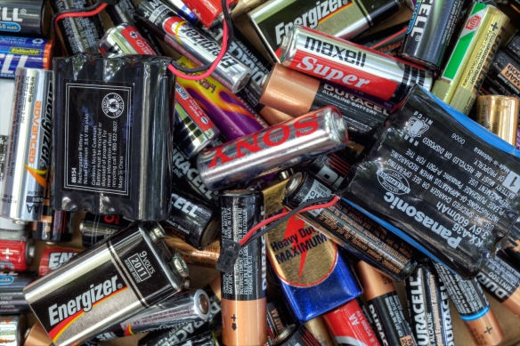 Dead Batteries - Huguette Roe  Shutterstock dot com