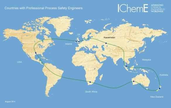 Locations of Professional Process Safety Engineers