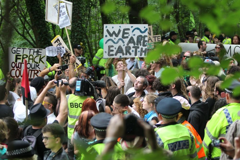 Fracking demonstration