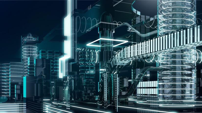 futuristic megalopolis