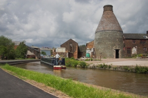 Narrow boat and kiln