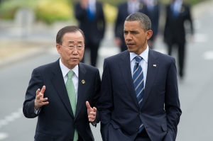 Barack Obama and Ban Ki-moon - Frederic Legrand - Shutterstock.com