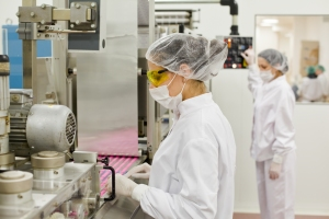 Chemical engineers working in the pharmaceuticals industry