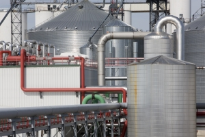 Refinery plant for ethanol biofuel
