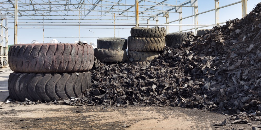 Used and shredded tyres