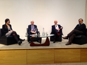 (L-R): Yasmin Ali; Geoff Maitland; Andy Furlong; and Dr. Tarit Mukhopadhyay