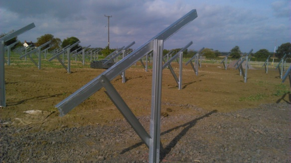 Solar farm construction