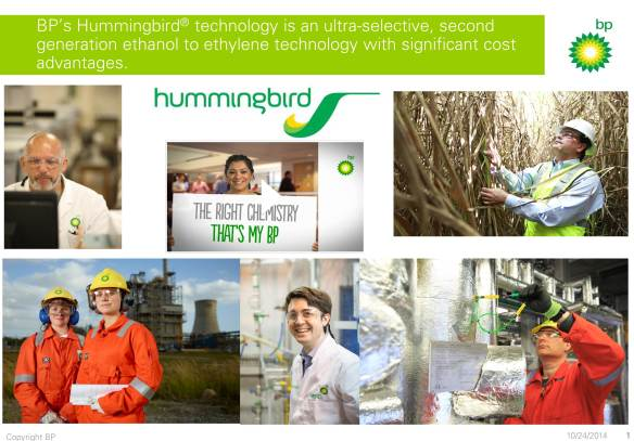 BP Hummingbird IChemE Awards Image