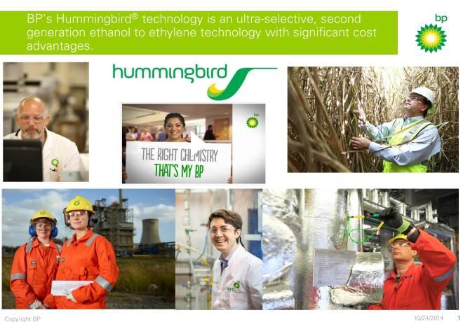 BP Hummingbird IChemE Awards Image