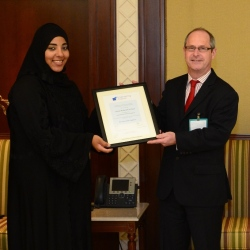 Hessa Al-Nesf with IChemE director of qualifications and international development, Neil Atkinson