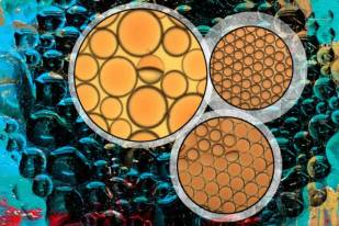 MIT researchers designed these complex emulsions to change their configuration in response to stimuli, such as light, or the addition of a chemical surfactant.