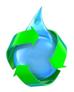 回收水的象征