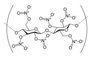 Chemical compound of Nitrocellulose
