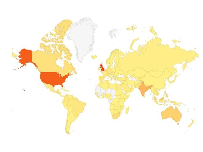 Readership of the #ChemEng365 blog