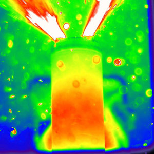 An exploding lithium ion battery Photo Credit | Donal Finegan, UCL