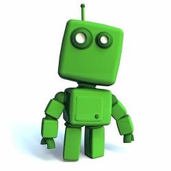 green robots
