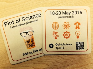 pint of science beer mat