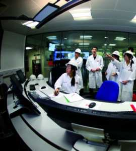Students being taught in the ABB Control Room