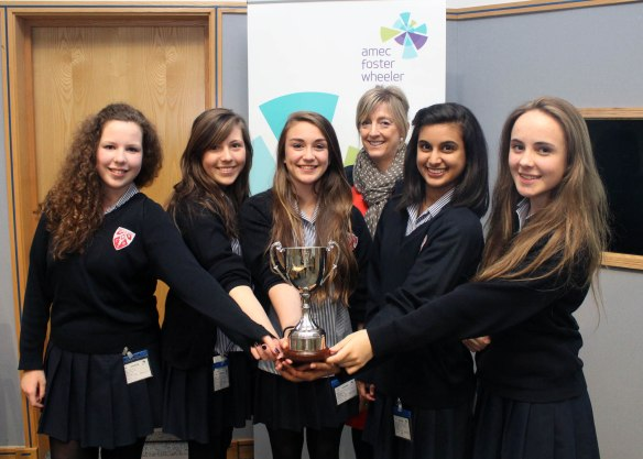 The winning team from Holt School, Berkshire, UK