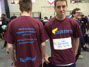 QUB chemical engineers in their 'Make ChemEng Great Again' t-shirts