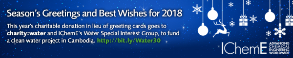 e-Season's Greetings banner - IChemE