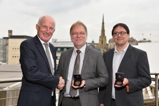 IChemE President Ken Rivers, Professor Grant Campbell and Dr Daniel Belton