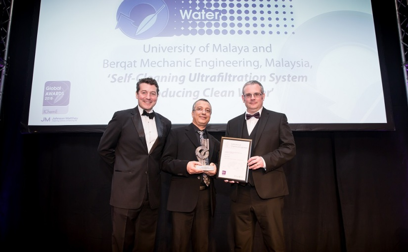 Self-cleaning system creates clean water for Malaysian villagers – IChemE Water Award Winner 2018