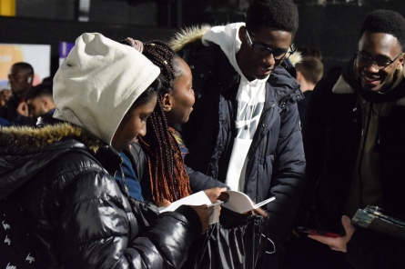 Students look at IChemE's Student Handbook, full of useful equations